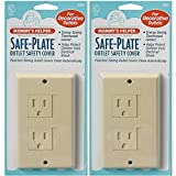Baby : Mommys Helper Safe Plate Electrical Outlet Covers Decora (2 Screws) - Color: Almond - 2 Count