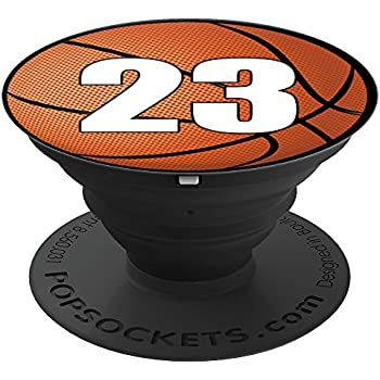 Amazon.com: Basketball Number 23 - PopSockets Grip and ... | 350 x 350 jpeg 23kB