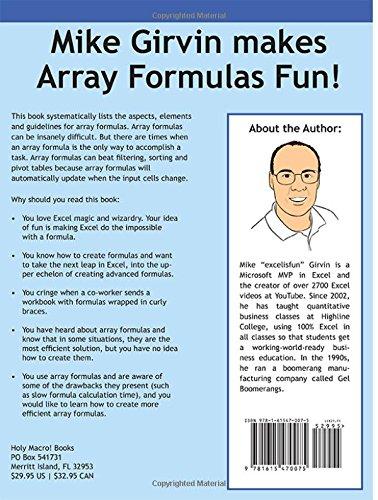 Amazon.com: Ctrl+Shift+Enter Mastering Excel Array Formulas: Do ...