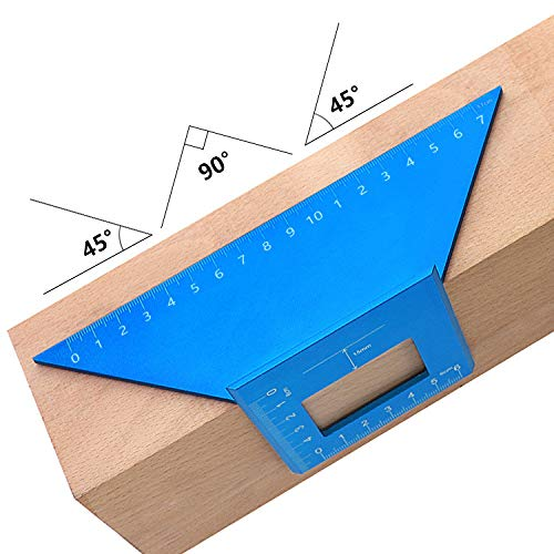 Universal Angle Ruler, Woodworking Multifunctional, Universal Angularizer Angle Measuring Tool, Woodworking Square 45 Degree Angle 90 Degree Ruler
