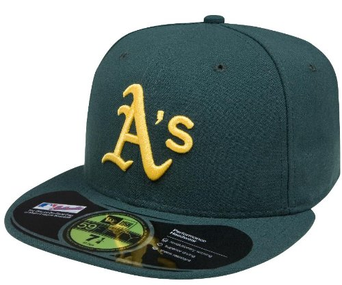 MLB Oakland Athletics Authentic On Field Road 59FIFTY Cap, 7 1/4, Green