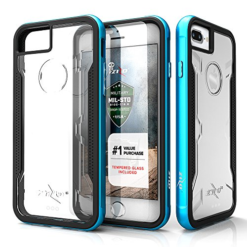iPhone 7 Plus Case, Zizo [Shock Series] W/Free [iPhone 7 Plus Screen Protector] Crystal Clear [Military Grade Drop Tested] Metal Bumper iPhone 7 Plus