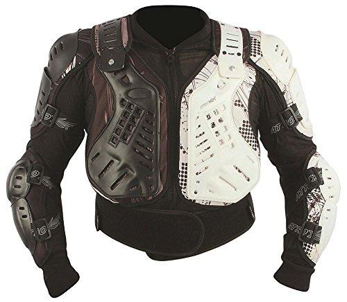 Protektorjacke Brustpanzer Protektorenhemd Amour Jacket schwarz weiß Größe L