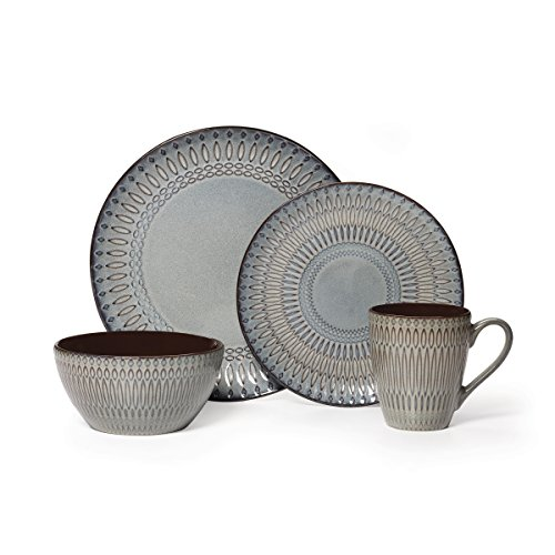 Gourmet Basics by Mikasa Broadway 16 Piece Dinnerware Set (Set of 4), - Broadway Mall Shopping