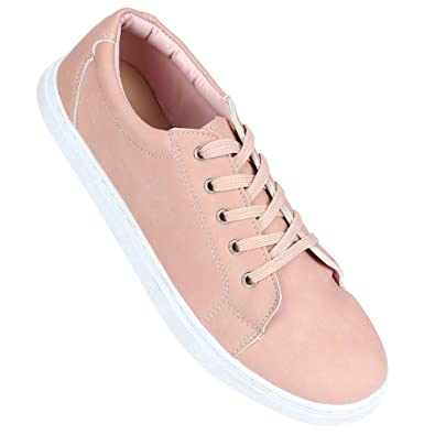 74c370510 Allen Solly Womens Casual Wear Lace Up Sneakers (202873381 Pink 8 ...