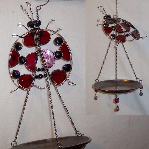 Glass Ladybug Bird Feeder - Lynnwood Glass