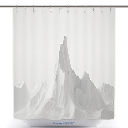 Amazon.com: vanfan-Cool Shower Curtains White Background Relief