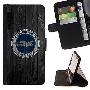 BullDog Case - FOR/HTC One M7 / - / Brighton Hove Sports Team /- Monedero de cuero de la PU Llevar cubierta de la caja con el ID Credit Card Slots Flip funda de cuer