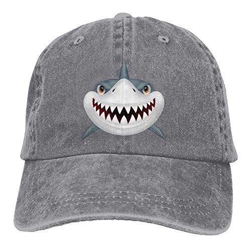 Classic Baseball Caps Cotton Denim Scary Shark Mouth