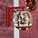 Thе Frasеr Hill Farm Christmas Decorations 16 Musical Wall-Mount Globe Featuring Santa Scene and Snow Function Christmas Decoration, Red