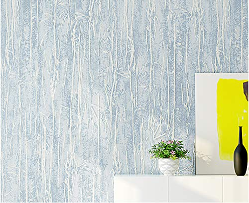 Wallpaper Vertical Stripes-Light Blue Decorative Non-Woven Wallpaper for Living Room Tv Sofa Bedroom Wall Covering Background