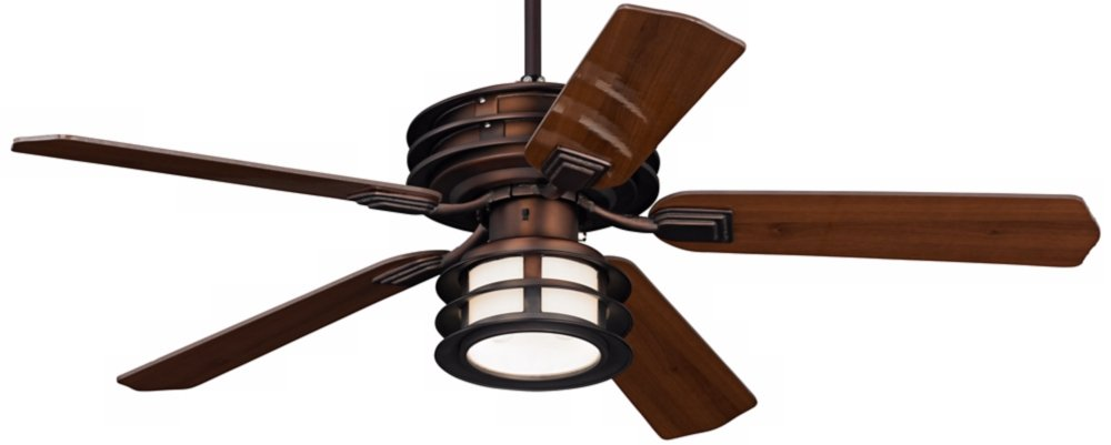 "52"" Casa Vieja Mission II Bronze Outdoor Ceiling Fan Hunter"
