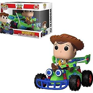 Woody w/ RC: Disney Pixar Toy Story x POP! Rides Vinyl Figure + 1 Classic Disney Trading Card Bundle [#056 / 37016]