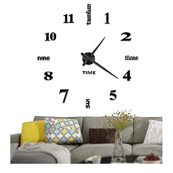Amazon Vangold Frameless DIY Wall Clock 2 Year Warranty 3D