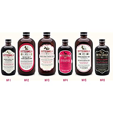 Bittermilk Cocktail Mixer Variety Pack - Six Bottles Includes Bittermilk No.1 No.2 No.3 No.4 No.5 No.6