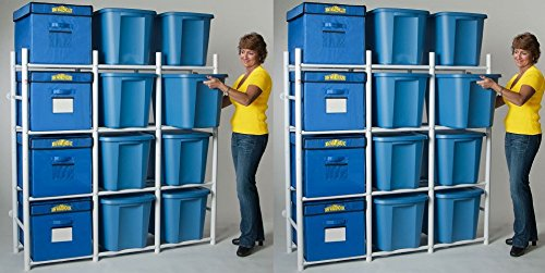 Bin Warehouse dfae2mbw-12tcコンパクトストレージシステム Pack of 2 B078WFSYLM
