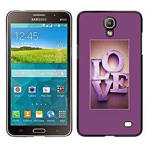 Caucho caso de Shell duro de la cubierta de accesorios de protección BY RAYDREAMMM - Samsung Galaxy Mega 2 - Marco de texto fucsia púrpura minimalista