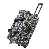 Olympia Luggage 22'' 6 Pocket Rolling Duffel Bag, Trellis