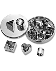 24Pcs Stainless Steel Geometric Shapes Cookie Cutters Cake Cookie Baking DIY Mould Biscuit Cutter