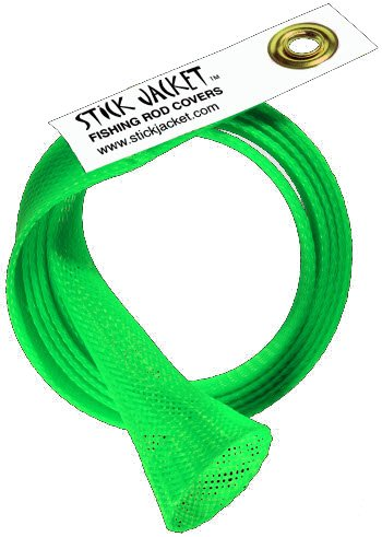 Stick Jacket Fishing Rod Cover (Neon Green, XL Casting)