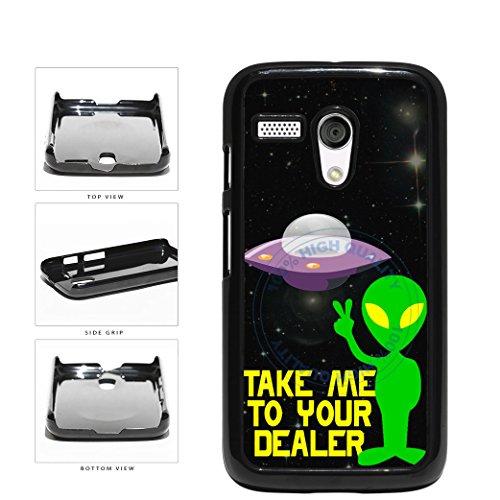Funny Alien Take Me To Your Dealer Plastic Phone Case Back Cover For Motorola Moto G includes BleuReign(TM) Cloth and Warranty Label (Motorola Moto G Case Rasta)