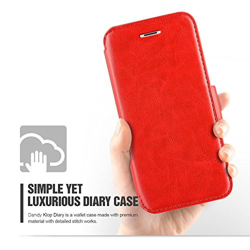 "VERUS Apple iPhone 6 (4.7"") Hülle Schutzhülle case cover Leather Diary Dandy Klop Case iPhone 6 4.7"" [Red]"