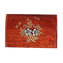 Chinese Style Wooden Card Holder Flower
