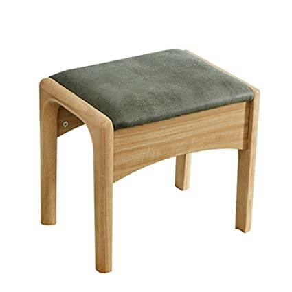 Amazon.com: Solid Wood Makeup Stool Small Size Rubber Wood ...