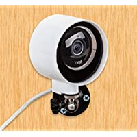 Outdoor Case and Flexible Wall Mount for Nest Cam & Dropcam Pro - 100% Weatherproof - 100% Day & Night Vision - With Heat Sink to Avoid Overheating (White)