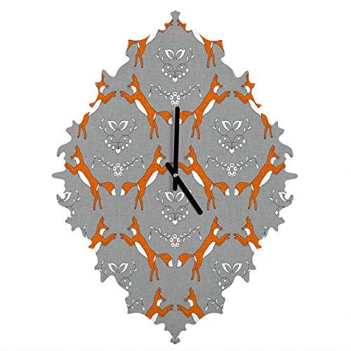 Deny Designs Holli Zollinger, Foxen, Baroque Clock, Medium by Deny Designs