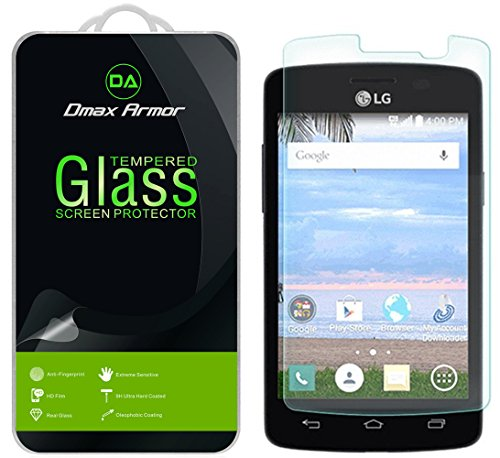 Dmax Armor for LG Sunrise Screen Protector, [Tempered Glass] 0.3mm 9H Hardness, Anti-Scratch, Anti-Fingerprint, Bubble Free, Ultra-clear (Glass Tempered Sun)