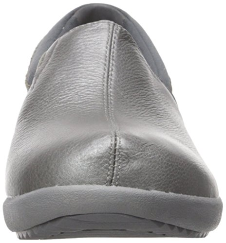 Savor singulière Skechers Leather Slip Mocassins Pewter on xRZZpdq