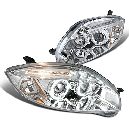 Spec-D Tuning 2LHP-ELP06-TM Mitsubishi Eclipse Chrome Clear Led Halo Projector (Mitsubishi Eclipse Gs Coupe)