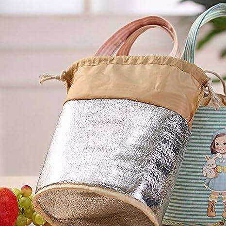 NAttnJf San Valentino Regalo Ragazza Carina Stampa Termica Isolato Pranzo stoccaggio Cooler Caso Sacchetto Pranzo Box-Rosa