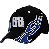 NASCAR Adult Drivers Flames Racing Hat / Cap-Dale Earnhardt Jr. #88-Black with Blue Flame