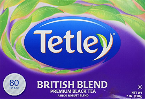 Tetley British Blend Premium Black, Tea Bags, 80 count (7 oz / 198 g) (Tea Highland Black Tea)