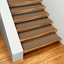 Set of 15 Skid-resistant Carpet Stair Treads - Toffee Brown - 8 In. X 23.5 In. - Several Other Sizes to Choose From