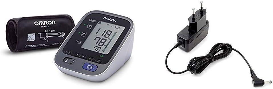 OMRON M7 Intelli IT - Tensiómetro de brazo, Bluetooth + Adaptador de corriente AC para tensiómetro M2, M3, M6, M7 y inhalador C803
