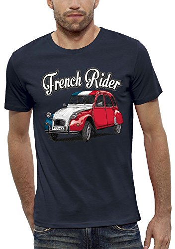 Homme T Rider French Pixel shirt Evolution Rouge HXwApqT