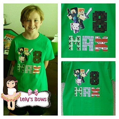 Personalized Minecraft Shirt Birthday Boy