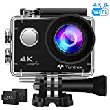 TONBUX Action Camera 17MP 1080P HD WiFi Waterproof Sports Cam 2 Inch LCD Screen, 170 Degree Wide Angle Lens, 98ft Underwater DV Camcorder with Accessories Kits