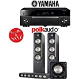 Yamaha AVENTAGE RX-A1080 7.2-Channel 4K Network AV Receiver + Polk Audio S60 + Polk Audio S35 + Polk Audio HTS12-3.1-Ch Home Theater Package