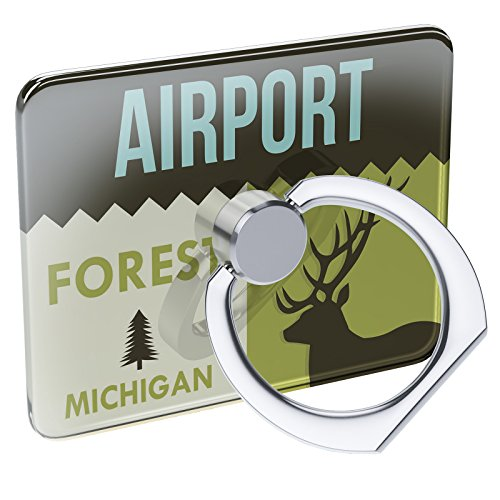 Cell Phone Ring Holder National US Forest Airport Forest Collapsible Grip & Stand Neonblond