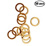 IZTOSS 50Pcs Copper Metric Flat Sealing Washers M14x20x1.5mm