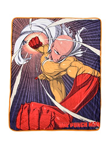 One Punch Man Throw Blanket (Punch Throws)