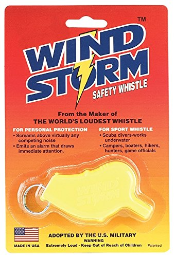 All-Weather Whistle Wind Storm Safety Whistle, Yellow