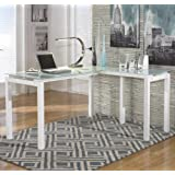 "Signature Design by Ashley H410-24 Baraga Collection Home Office Desk, 61"", White"