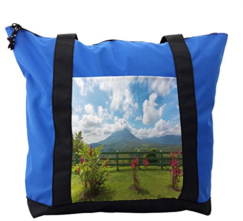 Lunarable Volcano Shoulder Bag, Costa Rica Scenic Arenal, Durable with Zipper