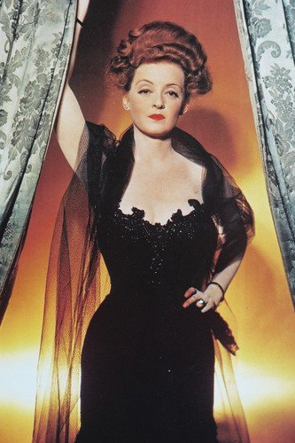 - Bette Davis 24x36 Poster Tough Looking Pose in Black Dress