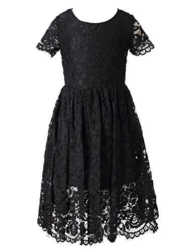 Happy Rose Flower Girl Lace Dress Country Dresses